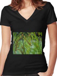 Autumn Foliage in Australia 3 Women's Fitted V-Neck T-Shirt