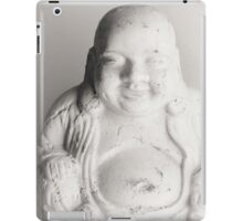 buddah black white iPad Case/Skin