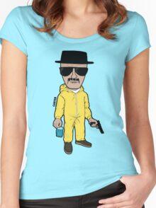 Breaking Bad Heisenberg Head Women's Fitted Scoop T-Shirt