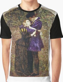John Everett Millais - The Huguenot. Lovers portrait: sensual woman, woman and man, kiss, kissing lovers, love relations, lovely couple, family, valentine's day, sexy, romance, female and male Graphic T-Shirt