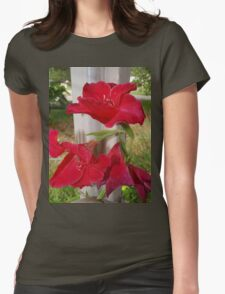 Porch post lilies Womens Fitted T-Shirt