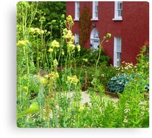 The Front Garden Of Glebe House Canvas Print