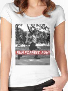 RUN FORREST, RUN! Women's Fitted Scoop T-Shirt