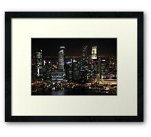 City Lights at Night Framed Print