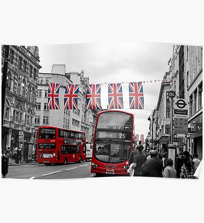 Oxford Street Flags Poster