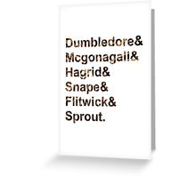 Hogwarts Teachers Greeting Card