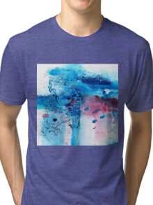 Abstract Acrylic Painting Music Notes II Tri-blend T-Shirt