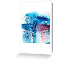 Abstract Acrylic Painting Music Notes II Greeting Card