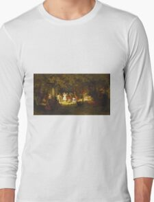 John George Brown - Picnic Party In The Woods. Female child portrait: cute baby, kid, children, pretty angel, child, kids, lovely family, boys and girls, boy and girl, mom mum mammy mam, childhood Long Sleeve T-Shirt