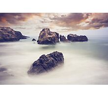 Misty Rocks Photographic Print