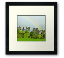 A Rainbow Over Irish Fields Framed Print