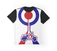 Retro Mod target and scooter Art Graphic T-Shirt