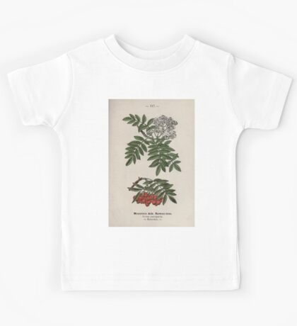 Wayside and woodland blossoms a pocket guide to British wild flowers for the country rambler  by Edward Step 1895 117 Mountain Ash Rowan Tree Kids Tee