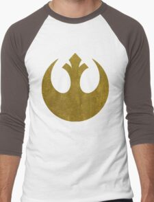 Rebel Alliance Golden Symbol Men's Baseball ¾ T-Shirt