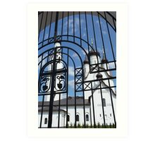 church fence Art Print