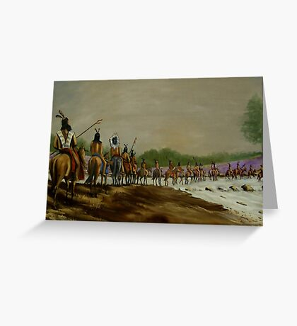 Crossing the Choctawhatchee Greeting Card