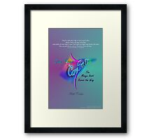 Live Your Core Path Framed Print