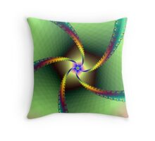 Whirligig in Green Throw Pillow