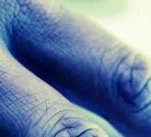 The Blue Hand Sticker