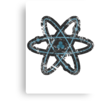 Distressed Atom Canvas Print