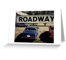 Roadway - America Greeting Card