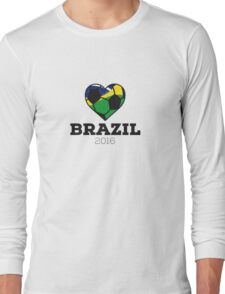 Brazil Soccer  Long Sleeve T-Shirt