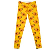 Golden Axolotl Pattern Leggings
