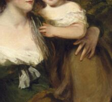 John Hoppner - The Countess Of Darnley And Her Daughter, Lady Elizabeth Bligh  1795. Mother with kid portrait: cute girl, mother and daughter, female, pretty angel, child, beautiful lovely family Sticker