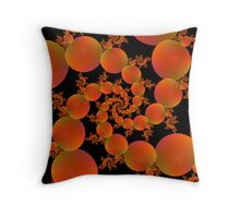 Spiral Oranges Throw Pillow