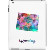Wyoming US state in watercolor iPad Case/Skin