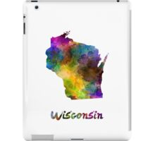 Wisconsin US state in watercolor iPad Case/Skin