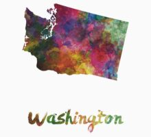Washington US state in watercolor One Piece - Short Sleeve