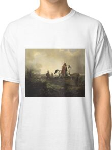 John Mix Stanley - Black Knife, An Apache Warrior. Hunter painting: hunting man, nature, male, forest, wild life, masculine, dogs, hunt, manly, hunters men, hunter Classic T-Shirt