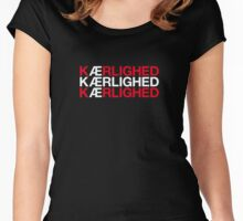 KAERLIGHED Women's Fitted Scoop T-Shirt
