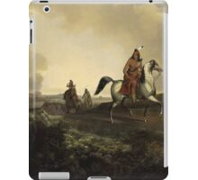 John Mix Stanley - Black Knife, An Apache Warrior. Hunter painting: hunting man, nature, male, forest, wild life, masculine, dogs, hunt, manly, hunters men, hunter iPad Case/Skin