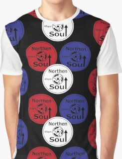 Retro Northern soul record labels Graphic T-Shirt