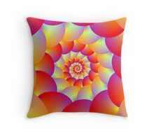 Ball Spiral in Red Yellow and Orange Throw Pillow