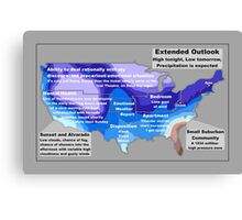 Emotional Weather Report Canvas Print