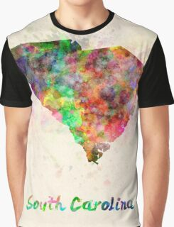 South Carolina US state in watercolor Graphic T-Shirt