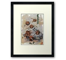 John R. Neill - Personified Muffins Tumbling Out Of Steam. Child portrait: cute baby, kid, children, pretty angel, child, kids, lovely family, boys and girls, boy and girl, mom mammy mam, childhood Framed Print