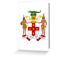 Coat of Arms Of Jamaica  Greeting Card