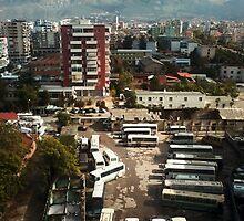 City skyline by dardanvukaj