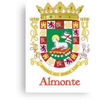 Almonte Shield of Puerto Rico Canvas Print