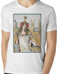 John R. Neill - The Lost Princess Of Oz. Woman portrait: sensual woman, girly art, female style, pretty women, femine, beautiful dress, cute, creativity, love, sexy lady, erotic pose Mens V-Neck T-Shirt