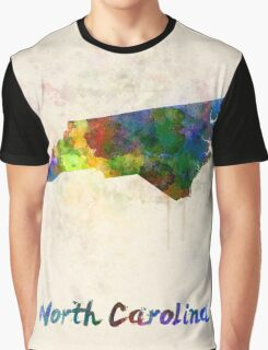 North Carolina US state in watercolor Graphic T-Shirt