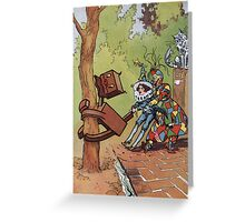 John R. Neill - The Patchwork Girl Helps The Boy. Child portrait: cute baby, kid, children, pretty angel, child, kids, lovely family, boys and girls, boy and girl, mom mum mammy mam, childhood Greeting Card