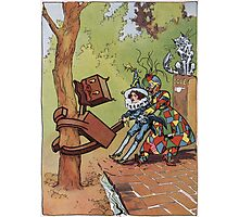John R. Neill - The Patchwork Girl Helps The Boy. Child portrait: cute baby, kid, children, pretty angel, child, kids, lovely family, boys and girls, boy and girl, mom mum mammy mam, childhood Photographic Print