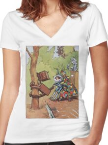 John R. Neill - The Patchwork Girl Helps The Boy. Child portrait: cute baby, kid, children, pretty angel, child, kids, lovely family, boys and girls, boy and girl, mom mum mammy mam, childhood Women's Fitted V-Neck T-Shirt
