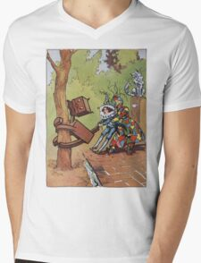 John R. Neill - The Patchwork Girl Helps The Boy. Child portrait: cute baby, kid, children, pretty angel, child, kids, lovely family, boys and girls, boy and girl, mom mum mammy mam, childhood Mens V-Neck T-Shirt