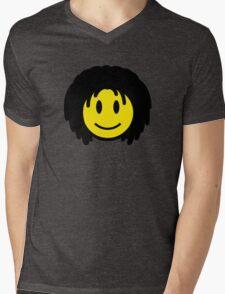 Rasta Smiley Mens V-Neck T-Shirt
